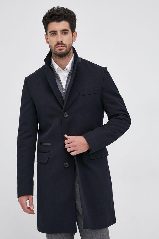 Boss - Płaszcz z domieszką wełny Męski