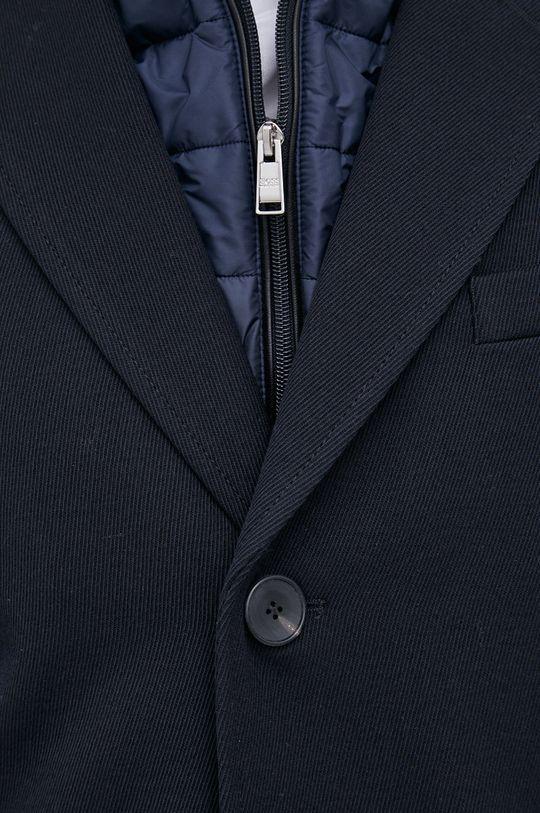 Boss - Płaszcz z domieszką wełny