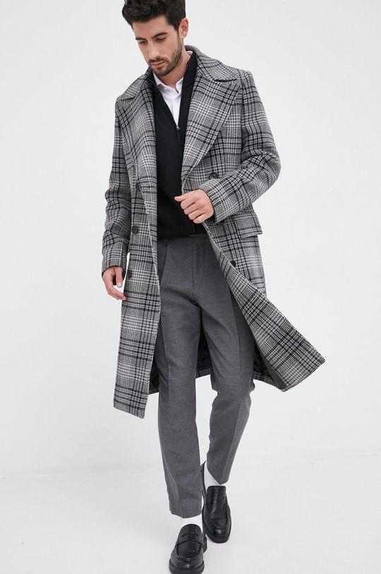 Boss - Płaszcz wełniany Męski