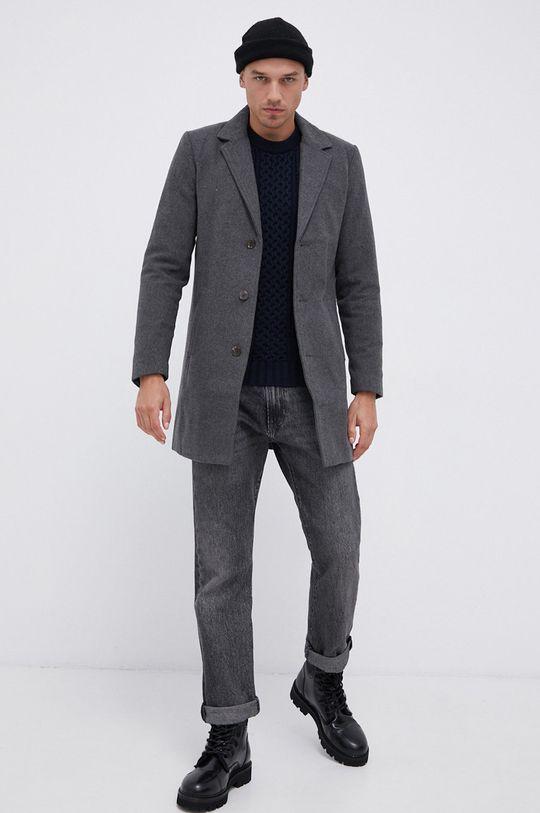 !SOLID - Kabát šedá