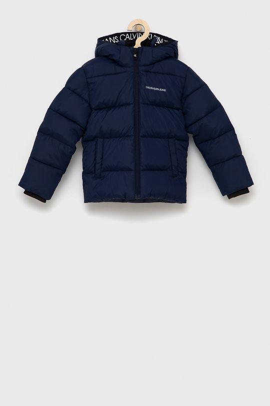námořnická modř Calvin Klein Jeans - Dětská bunda Chlapecký