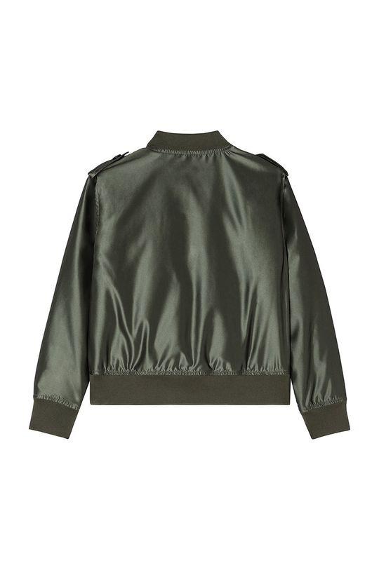 Karl Lagerfeld - Geaca bomber pentru copii verde murdar