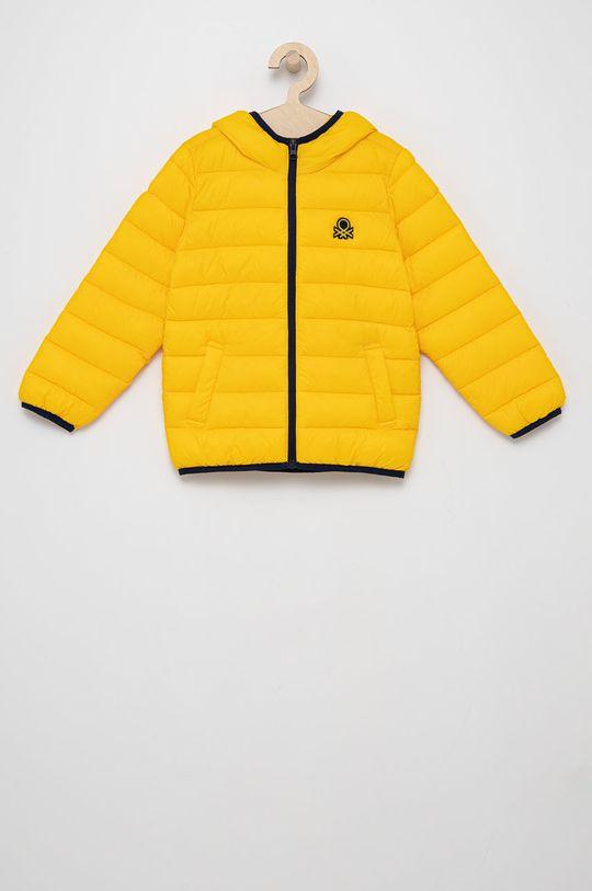 żółty United Colors of Benetton - Kurtka dziecięca Chłopięcy