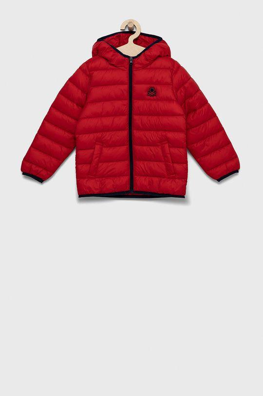 czerwony United Colors of Benetton - Kurtka dziecięca Chłopięcy