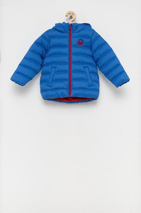modrá United Colors of Benetton - Detská bunda Chlapčenský