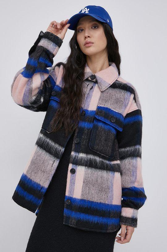 multicolor Jacqueline de Yong - Płaszcz z domieszką wełny Damski