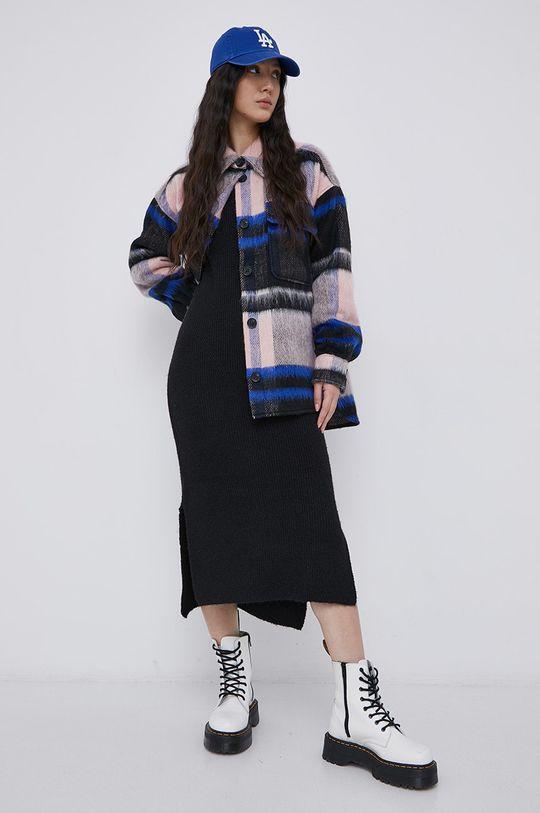 Jacqueline de Yong - Płaszcz z domieszką wełny multicolor