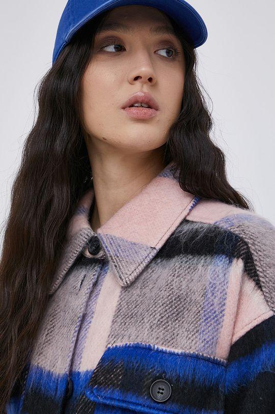 multicolor Jacqueline de Yong - Płaszcz z domieszką wełny
