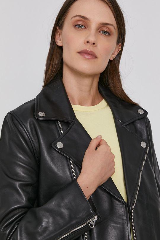 czarny Calvin Klein - Ramoneska skórzana