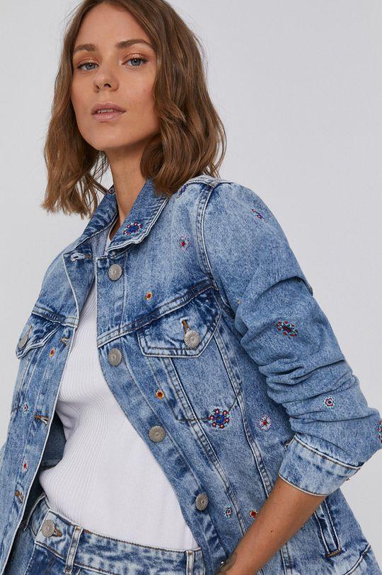 modrá Desigual - Bavlnená rifľová bunda