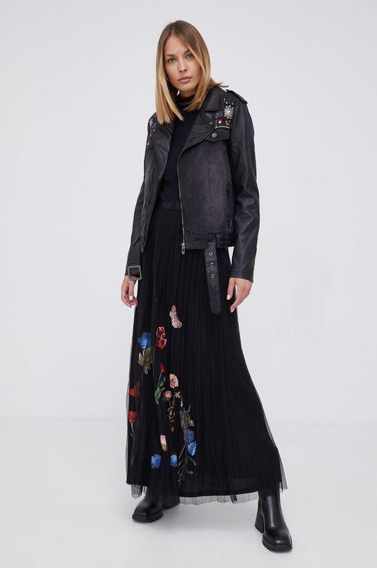 Desigual - Ramoneska jeansowa czarny
