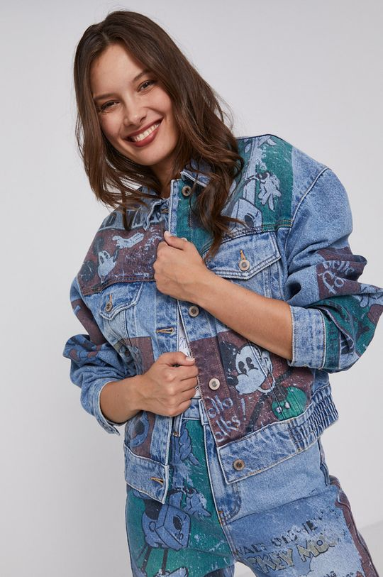 albastru Desigual - Geaca jeans x Disney De femei