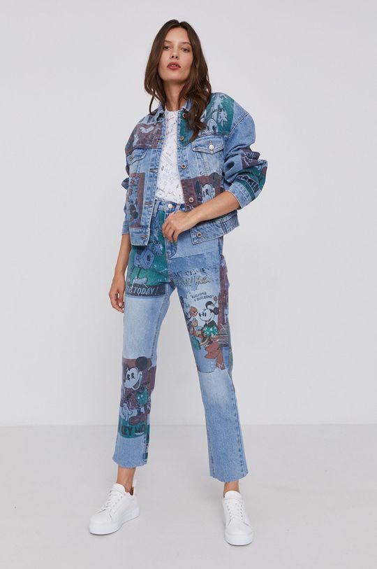Desigual - Geaca jeans x Disney albastru