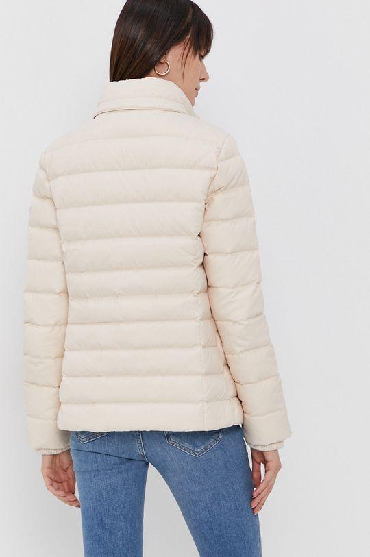 Tommy Jeans - Péřová bunda  Podšívka: 100% Polyester Výplň: 30% Peří, 70% Kachní chmýří Hlavní materiál: 100% Polyester Umělá kožešina: 57% Akryl, 43% Modacryl Podšívka kapuce: 100% Polyester Stahovák: 2% Elastan, 98% Polyester
