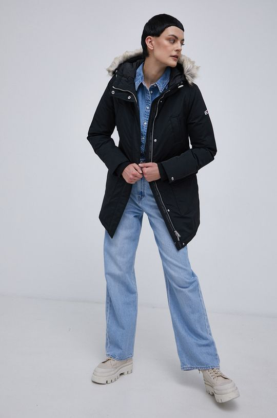 czarny Tommy Jeans - Kurtka Damski