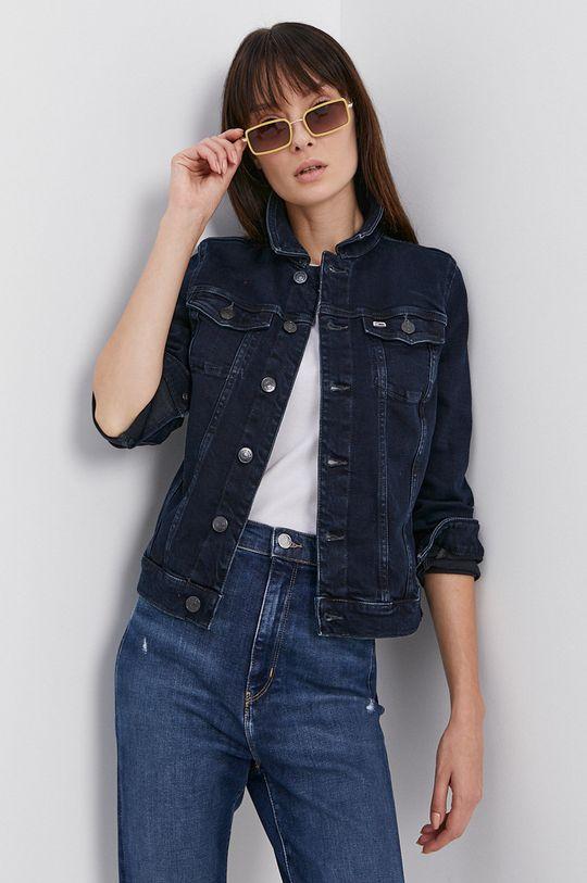 námořnická modř Tommy Jeans - Džínová bunda Dámský