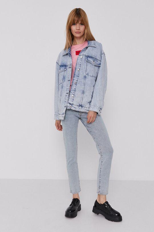 Hugo - Kurtka jeansowa niebieski