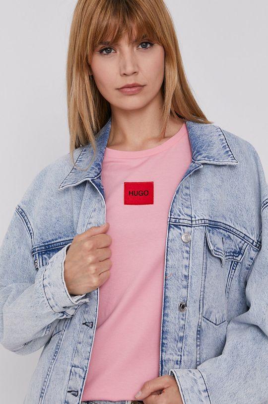 niebieski Hugo - Kurtka jeansowa