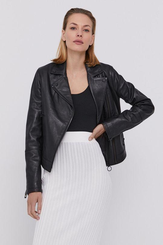 čierna Hugo - Kožená bunda Dámsky
