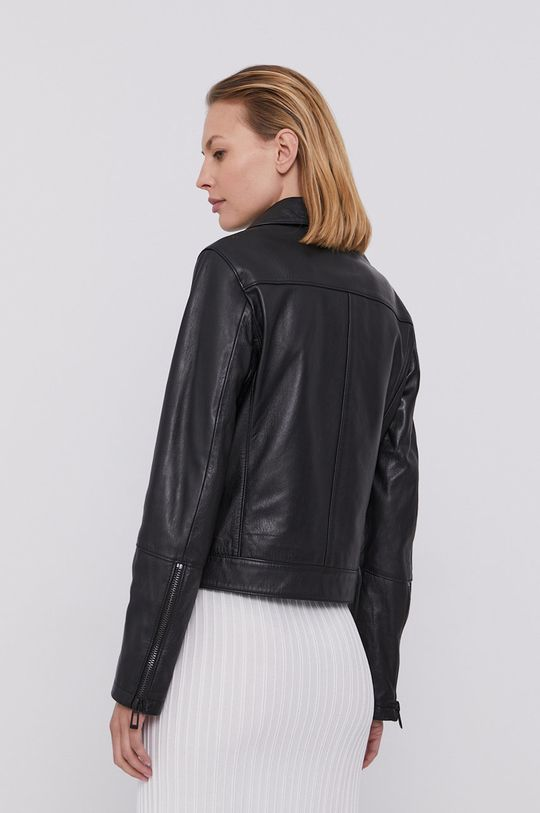 Hugo - Kožená bunda  Podšívka: 100% Polyester Základná látka: 100% Ovčia koža