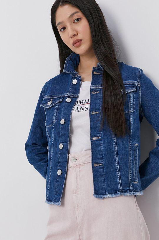 niebieski Tommy Jeans - Kurtka jeansowa Damski