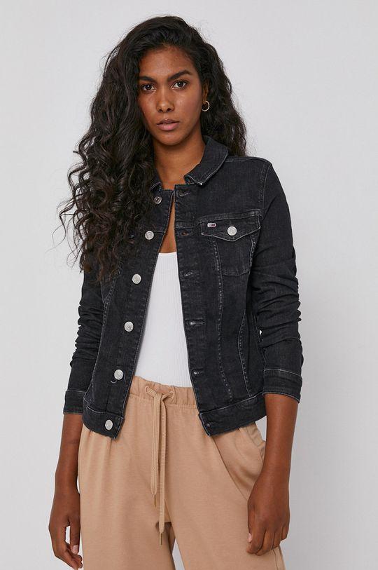 černá Tommy Jeans - Džínová bunda Dámský