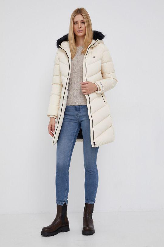 Calvin Klein Jeans - Kurtka puchowa kremowy