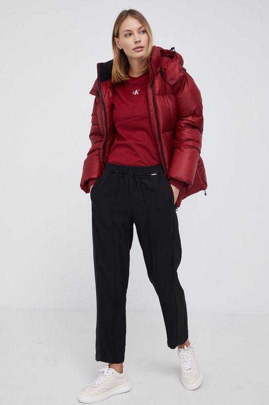 Calvin Klein Jeans - Kurtka puchowa kasztanowy