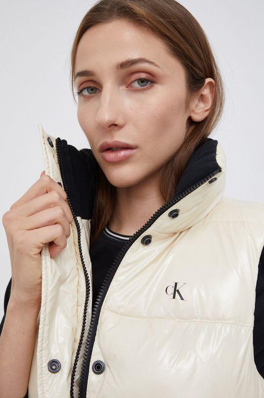 kremowy Calvin Klein Jeans - Bezrękawnik