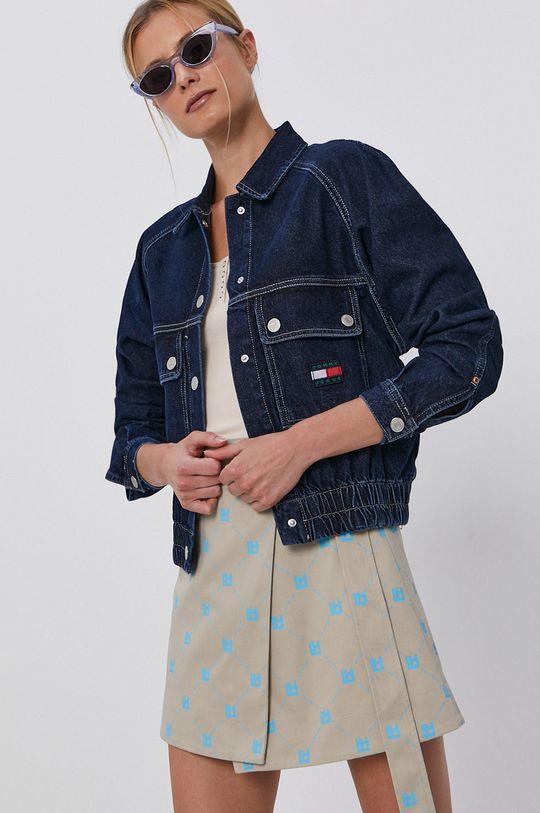 námořnická modř Tommy Jeans - Bavlněná džínová bunda Dámský