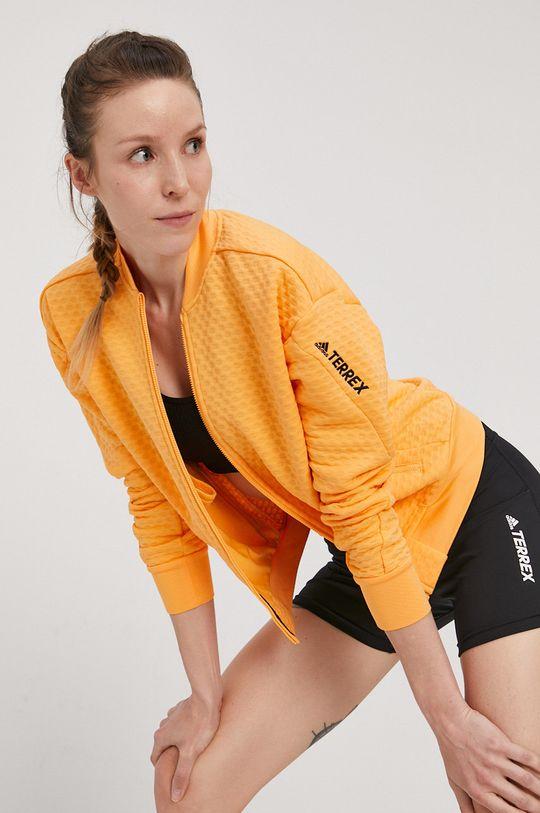 svetlo oranžová adidas Performance - Mikina Dámsky