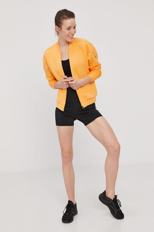 adidas Performance - Mikina svetlo oranžová
