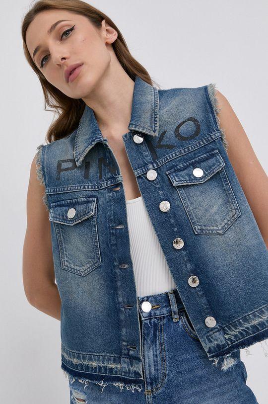 niebieski Pinko - Bezrękawnik jeansowy Damski