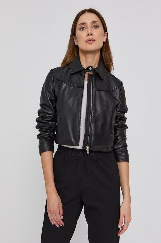 černá MAX&Co. - Kožená bunda MICRON Dámský