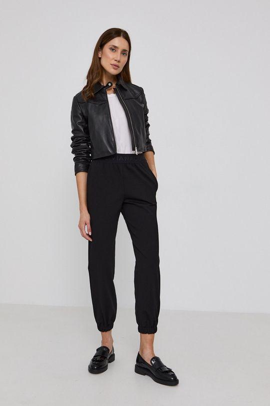 MAX&Co. - Kožená bunda MICRON černá