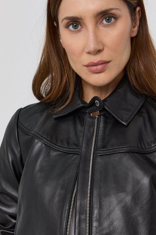 černá MAX&Co. - Kožená bunda MICRON