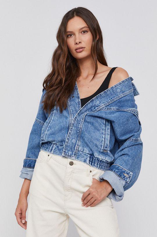 niebieski Pepe Jeans - Kurtka jeansowa bawełniana Jacky Damski