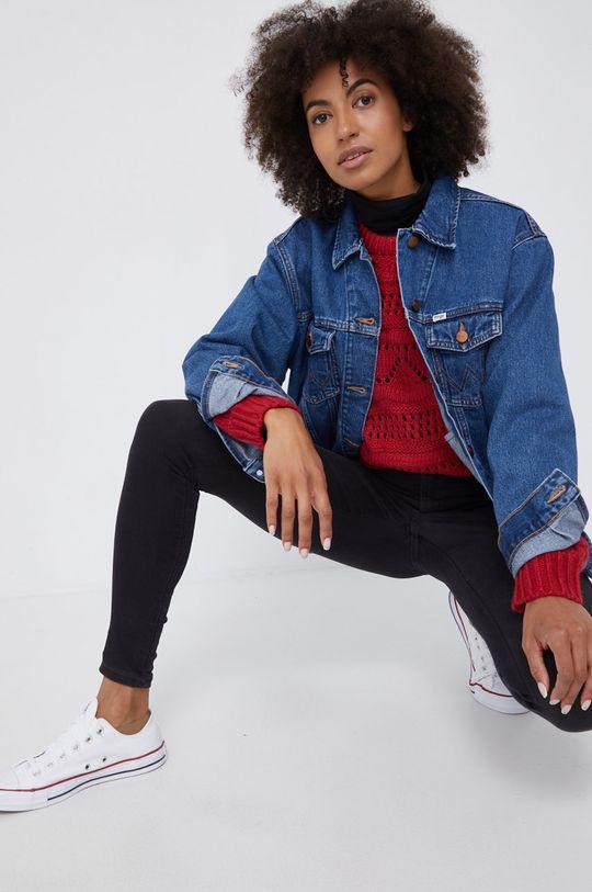 niebieski Wrangler - Kurtka jeansowa bawełniana Damski
