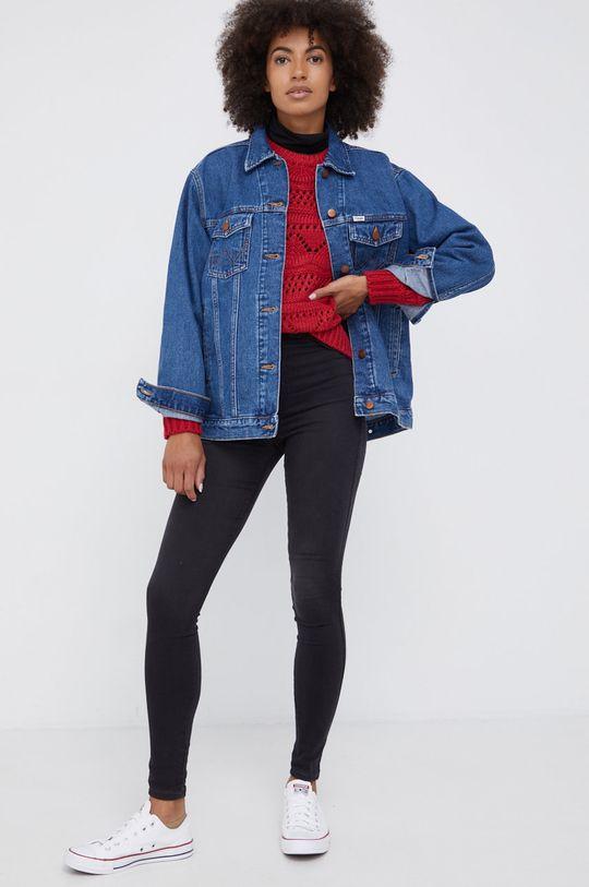 Wrangler - Kurtka jeansowa bawełniana niebieski