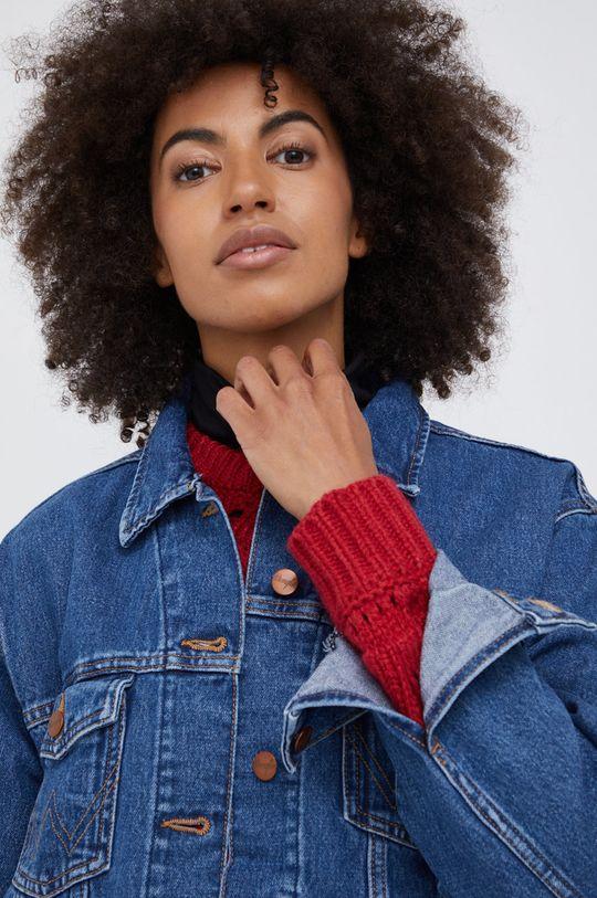 niebieski Wrangler - Kurtka jeansowa bawełniana