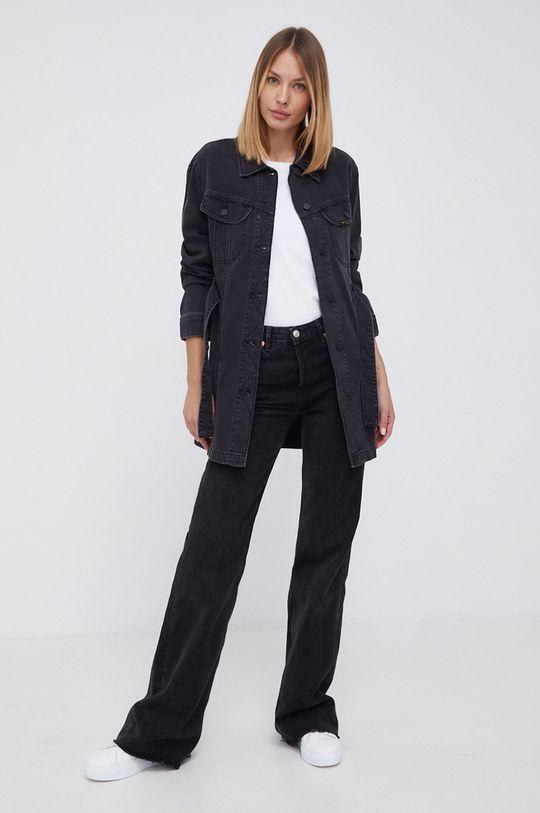 Lee - Kurtka jeansowa czarny