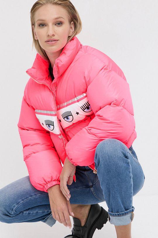 sýto ružová Chiara Ferragni - Páperová bunda Maxilogomania Dámsky