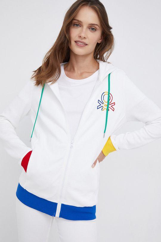λευκό United Colors of Benetton - Βαμβακερή μπλούζα Γυναικεία