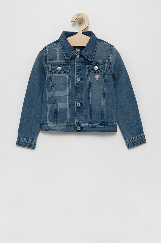 modrá Guess - Dětská riflová bunda Dívčí