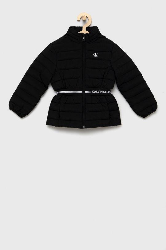 czarny Calvin Klein Jeans - Kurtka dziecięca Dziewczęcy