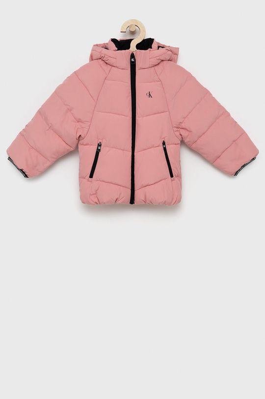 růžová Calvin Klein Jeans - Dětská bunda Dívčí