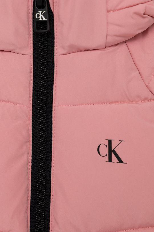 Calvin Klein Jeans - Dětská bunda růžová