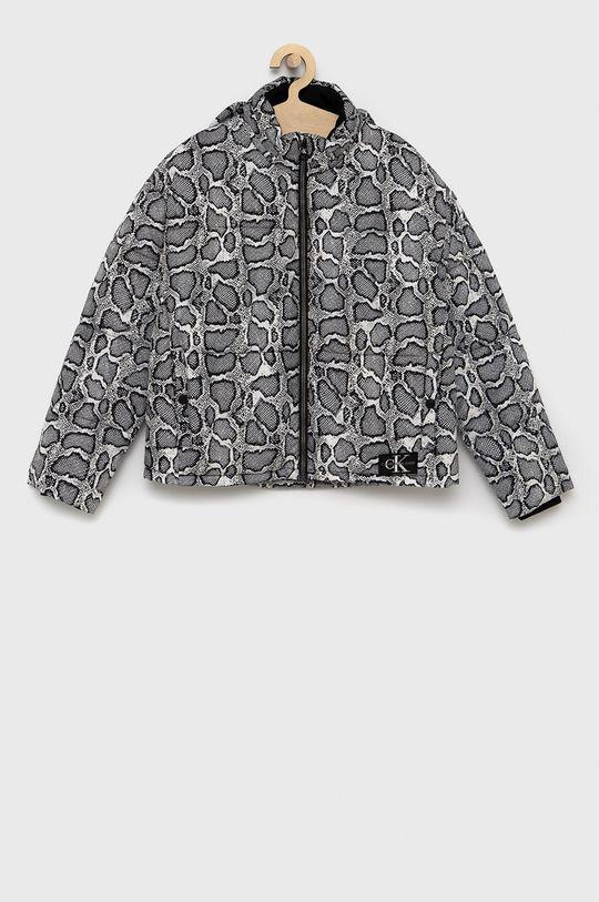 černá Calvin Klein Jeans - Dětská bunda Dívčí