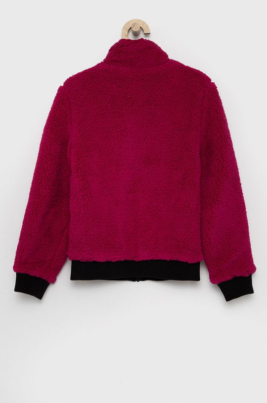 fuchsiová Calvin Klein Jeans - Dětská oboustranná bunda