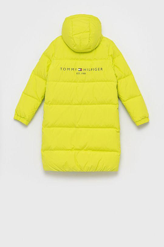 Tommy Hilfiger - Kurtka puchowa dziecięca żółto - zielony
